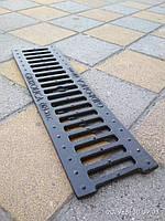 Решетка канала ливневой канализации щелевая чугунная класс С, фото 1