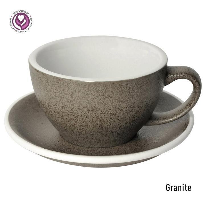 Чашка и блюдце для латте Loveramics Egg Granite 300 мл