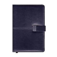 Ежедневник недатированный на клапане А5, 150л., клетка №2905, тёмно-синий
