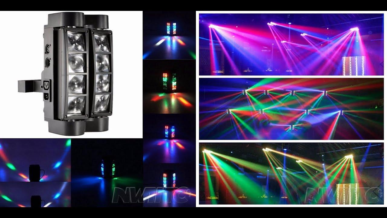 LED дискотечный свет Spider Moving Head DMX 8x3W RGBW