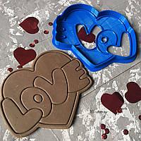 """Вирубка """"Серце Love"""" / Вырубка - формочка для пряников """"Сердце Love"""""""