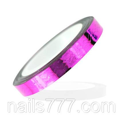 Лента для дизайна зиг-заг, розовая, фото 2