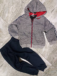 Спортивний теплий костюм на хлопчиків 98-104 см
