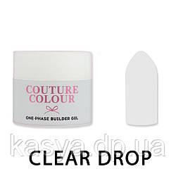 Однофазный гель One-Phase Builder Gel Couture Colour Clear Drop, 15 мл