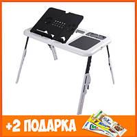 Стол - подставка для ноутбука E-Table черно-белый