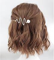 Заколка для волос Змея с жемчугом 9см, фото 1