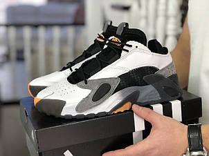 Мужские кроссовки Adidas Streetball черно белые, фото 2