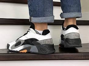 Мужские кроссовки Adidas Streetball черно белые, фото 3