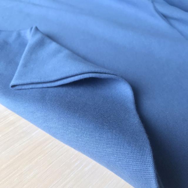 трикотажная ткань рибана светлый джинс, купить в нашем магазине