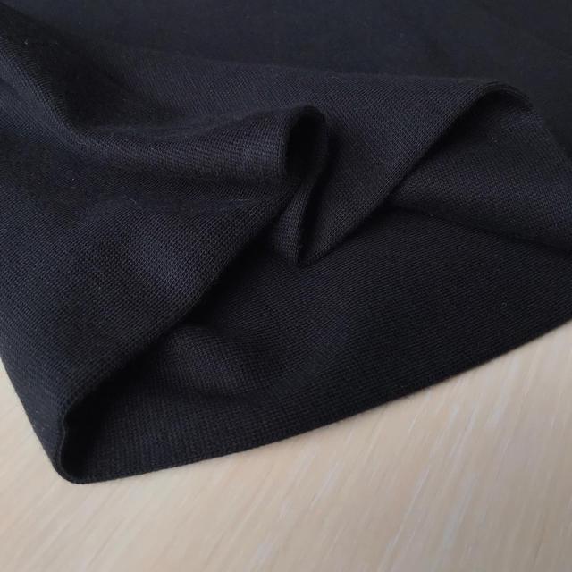 трикотажная ткань рибана черная, купить в нашем магазине