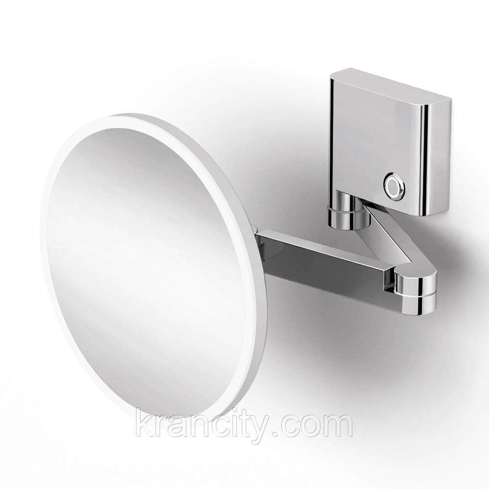 Зеркало увеличительное,VOLLE FIESTA  крепление к стене, LED подсветка, 3х