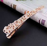 Шпилька зажим для волосся Ажур золото 13,5 см, фото 1