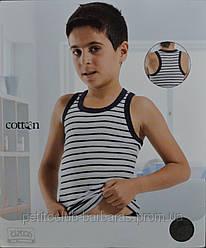 Майка-боксерка для мальчика в полоску (р. 98-164 см) (OZTAS, Турция)