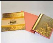 Поталь в листах, Золото Дукат 12, 14х14 см., 25 листов, Borma Wachs