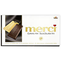 Шоколадные конфеты Merci  Edelbitter 72% какао 100г Германия, фото 1