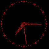 Светодиодные часы для уличного использования 640х640мм, красные, фото 2