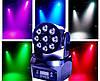 Заливочная световая прибор голова Moving head Wash 9x8w RGBW 4in1 DMX, фото 5