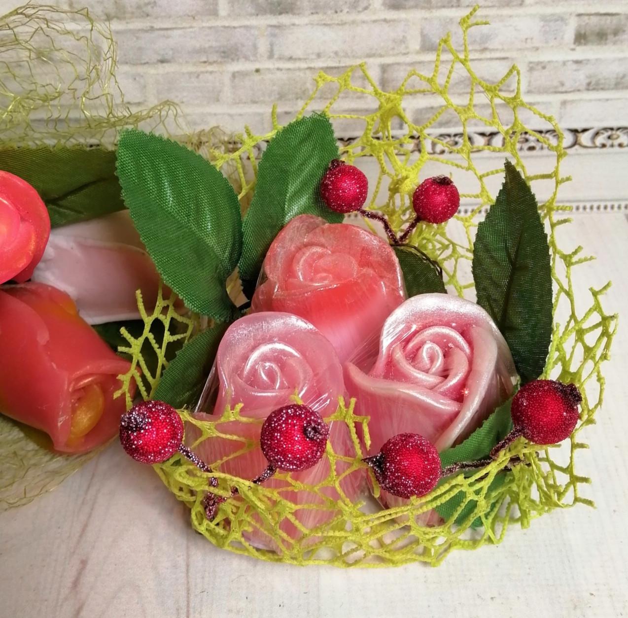 Набор мыла розы №4