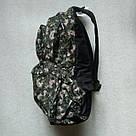 Мужской рюкзак Dolphin Line с пиксельным камуфляжным принтом милитари. Легкий, моющийся, немаркий!, фото 5