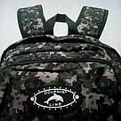 Мужской рюкзак Dolphin Line с пиксельным камуфляжным принтом милитари. Легкий, моющийся, немаркий!, фото 7