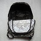 Мужской рюкзак Dolphin Line с пиксельным камуфляжным принтом милитари. Легкий, моющийся, немаркий!, фото 9