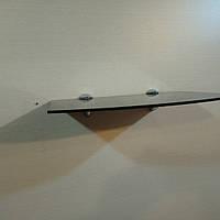 Полка стеклянная фигурная чёрная 4 мм 25 х 17 см в комплекте