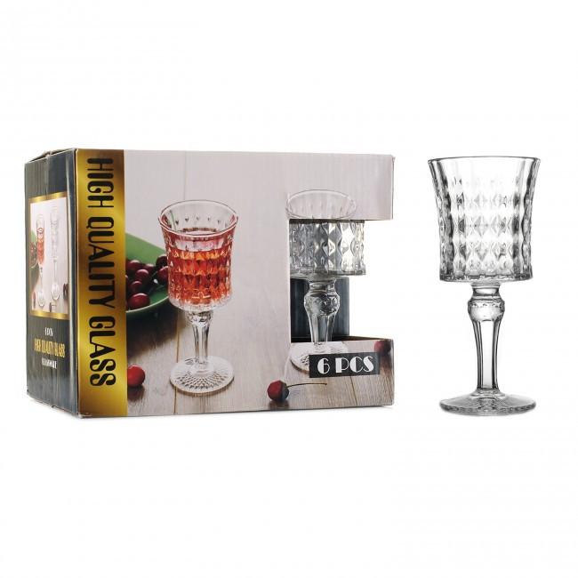 Набір скляних фужерів для вина HLS «Кришталь» 170 мл 6 шт (6388К)