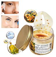 Маска-патчи для кожи вокруг глаз с золотым османтусом Bioaqua Golden Osmanthus Eye Mask, патчи Биоаква