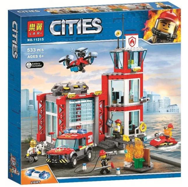 Конструктор Lari 11215 City Пожарное депо 533 деталей