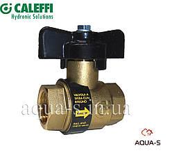 """Кран шаровой Caleffi BALLSTOP DN 1/2"""" с обратным клапаном (323040) Италия"""