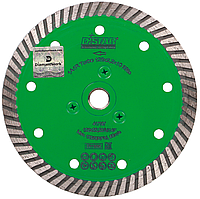 Круг алмазный Distar Turbo Elite M14F 5D 125 мм, диск для резки гранита с фланцем на УШМ