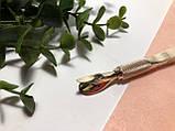 Пинцет обратный для зажима арки ногтей и лопатка-пуше, 2в1, фото 2