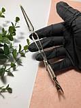 Пинцет обратный для зажима арки ногтей и лопатка-пуше, 2в1, фото 3