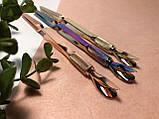 Пинцет обратный для зажима арки ногтей и лопатка-пуше, 2в1, фото 5
