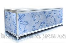 Экран под ванну 180 см, голубой камень, пластиковый каркас