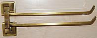 Держатель полотенец двойной античная бронза Celik (KU10-014.2)