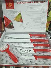 Набор кухонных ножей с керамическим покрытием 6 предметов Kitchen King