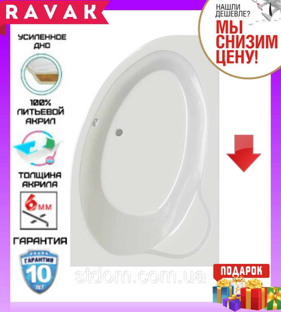 Акриловая ванна 160x105 см Ravak Asymmetric II CB61000000 правосторонняя