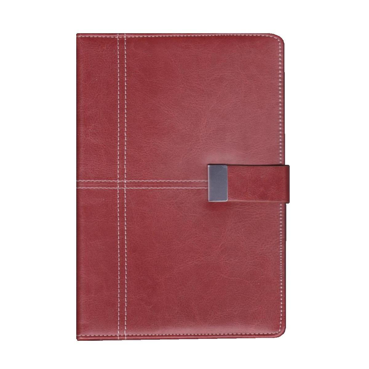 Ежедневник недатированный на клапане А5, 150л., клетка №2905, рыжий