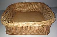 Плетеная корзина плетеный лоток 40 * 38 * 13 см б/у