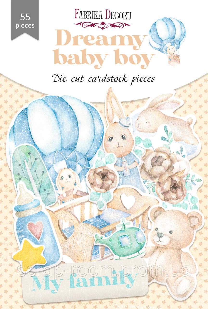 Набор высечек коллекция Dreamy baby boy 55 шт   Фабрика Декора