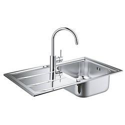 Hабор Кухонная мойка Grohe EX Sink 31570SD0 K400 + смеситель Concetto 32663001