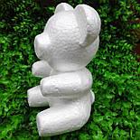 Заготовка пенопластовый медведь 20 см, фото 2