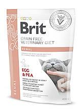 Лікувальний корм для кішок Brit Veterinary Diets Cat Renal при хронічній нирковій недостатності 400 г