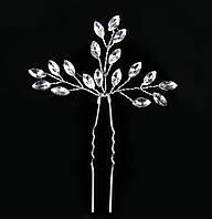 Шпилька для волос с хрустальными камнями Веточки, фото 1