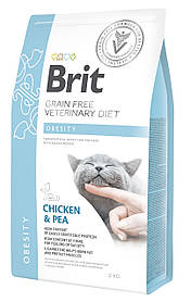 Лечебный корм для кошек Brit Veterinary Diets Cat Obesity при избыточном весе 2 кг