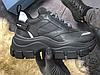 Женские кроссовки Prada Pegasus Sneakers Black, фото 5