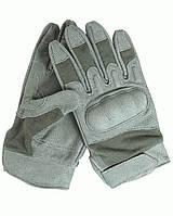 Негорящие перчатки Mil-tec Action Gloves foliage кожаные с техногией Nomex