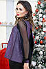 Оригинальная женская блузка с люрексом и полуоткрытой спинкой, фото 8