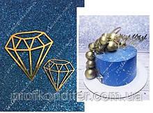 """Набір Топеров з ламінованого картону """"Міні Діаманти"""" 5 і 3 см"""